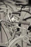 Manubri d'annata della bici Fotografie Stock Libere da Diritti