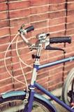 Manubri d'annata della bici Fotografia Stock