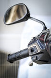 Manubri del motociclo Fotografie Stock