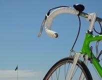 Manubrio della bicicletta Fotografie Stock