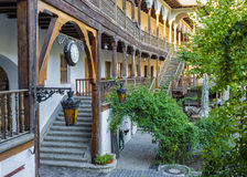 Manuc的旅馆的(Hanul lui Manuc)内在围场 免版税库存图片