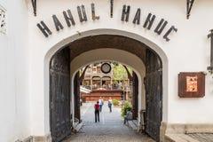 Manuc的旅馆(Hanul lui Manuc)在布加勒斯特 免版税库存图片