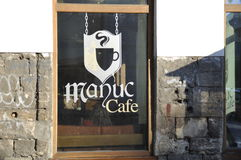 Manuc kafé Bucharest Arkivbilder