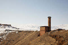 Manucehr Mosque in Ani, Kars, Turkey Stock Photos