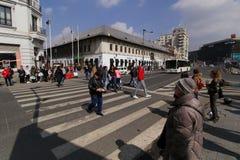 Manucherberg - Belangrijke toeristische attractie in Boekarest stock fotografie