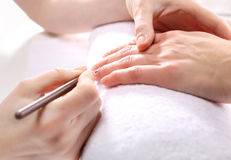 Manucure, beaux ongles sains Images libres de droits