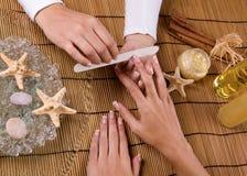 Manucure behandling Royaltyfria Foton