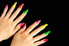 Manucure colorée Photos libres de droits