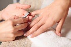 Manucure d'ongle Photo libre de droits
