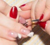 Manucure dans le salon de beauté Images stock