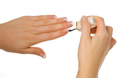 Manucure de femme photo stock