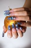 Manucure des doigts des mains Photographie stock libre de droits