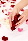 Manucure française rose photos libres de droits