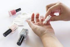 Manucures de femme photographie stock libre de droits
