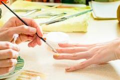 Manucures professionnels photographie stock libre de droits