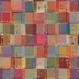 Manueel geproduceerde textuur, hand getrokken vermenigvuldigd vierkantennet Stock Afbeelding