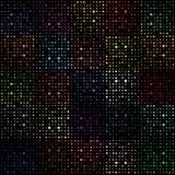 Manueel getrokken puntpatroon in willekeurige distributie, die uit kleine, onregelmatige vormen bestaan Stock Afbeelding