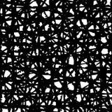 Manueel getrokken zwart rustiek digitaal remastered strepenpatroon, overlappend, op witte basis Royalty-vrije Stock Afbeeldingen