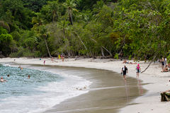 Manuel Antonio Beach, costa Rica stock images