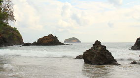 Manuel Antonio Beach Costa Rica. Manuel Antonio National Park beach in Costa Rica stock footage