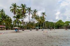 MANUEL ANTONIO, COSTA RICA - MAY 13, 2016: People on a beach in Manuel Antonio village, Costa Ri. Ca stock photos