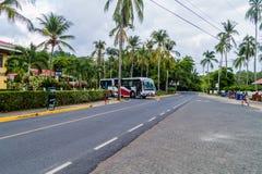 MANUEL ANTONIO, COSTA RICA - MAY 13, 2016: Road leading to the gate of National Park Manuel Antonio, Costa Ri. Ca stock image