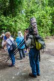 MANUEL ANTONIO, COSTA RICA - MAY 13, 2016: Tourists in the National Park Manuel Antonio, Costa Ri. Ca stock photos