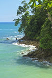 Manuel Antonio Rocky Shore Royalty Free Stock Images