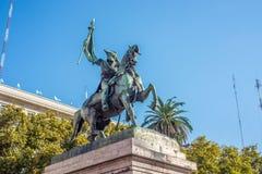 Manuel Belgrano Statue i Buenos Aires, Argentina arkivbilder