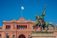 Manuel Belgrano Statue i Buenos Aires, Argentina fotografering för bildbyråer