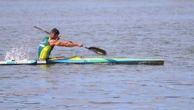 Manuel Busto, campione canoeing del mondo. Fotografia Stock