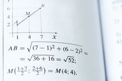 Manuel de mathématiques Image libre de droits