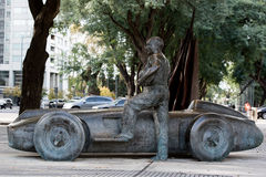 Manuel Fangio top driver copper statue royalty free stock images