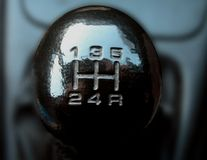 Manuel gear shift Royalty Free Stock Images