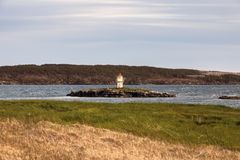 Manuel Island Lighthouse, Neufundland lizenzfreie stockbilder