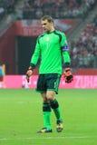 Manuel Neuer. WARSAW, POLAND - OCTOBER 11, 2014: Manuel Neuer (German team and Bundesliga club Bayern Munich goalkeeper) during the UEFA EURO 2016 qualifying stock image