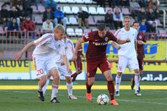Manuel Pamic - Sparta Prague. Manuel Pamic in the 16th final of czech republic football cup between Viktoria Zizkov and Sparta Prague, held in Prague on 31.10 stock image