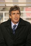 Manuel Pellegrini. Coach of Villareal during a Spanish League match between Espanyol and Villareal at the Olympic Stadium on January 5, 2008 in Barcelona, Spain stock images