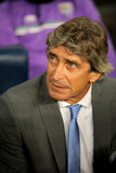 Manuel Pellegrini coach of Malaga Stock Photography
