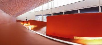 Manuel Rojas Congress Center, Badajoz, Spain. Hall Interior. Badajoz, Spain - October 22, 2017: Congress Center Manuel Rojas, designed by Jose Selgas and Lucia Stock Images