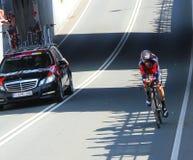 Manuel Senni, BMC Racing. APELDOORN, NETHERLANDS-MAY 6 2016: Manuel Senni of pro cycling team BMC Racing during the Giro d'Italia prologue time trial stock images