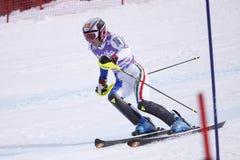 Manuela Moelgg - italienisches alpines Skifahren Stockbild