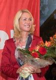 Manuela Schwesig minister av SPD, Tyskland Royaltyfria Bilder