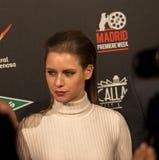Manuela Velles all'evento del cinema di settimana di prima di Madrid nel quadrato di Callao, Madrid Fotografia Stock