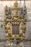Manuelin projektuje okno w klasztorze Chrystus w Tomar, Portugalia Zdjęcie Royalty Free