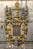 Manuelin style window in Convent of Christ in Tomar ,Portugal. Manuelin style window in Convent of Christ in Tomar - Portugal Royalty Free Stock Photo