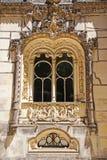 Manueline样式窗口,辛特拉,葡萄牙 库存照片