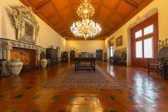 Manueline霍尔,辛特拉全国宫殿  免版税库存图片