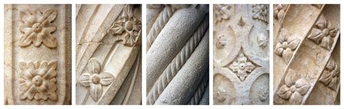 Manueline architektoniczna ornamentacja Obraz Royalty Free