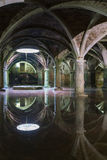 Manueline Cistern reflection at El-Jadida, landmark of Morocco Royalty Free Stock Photography